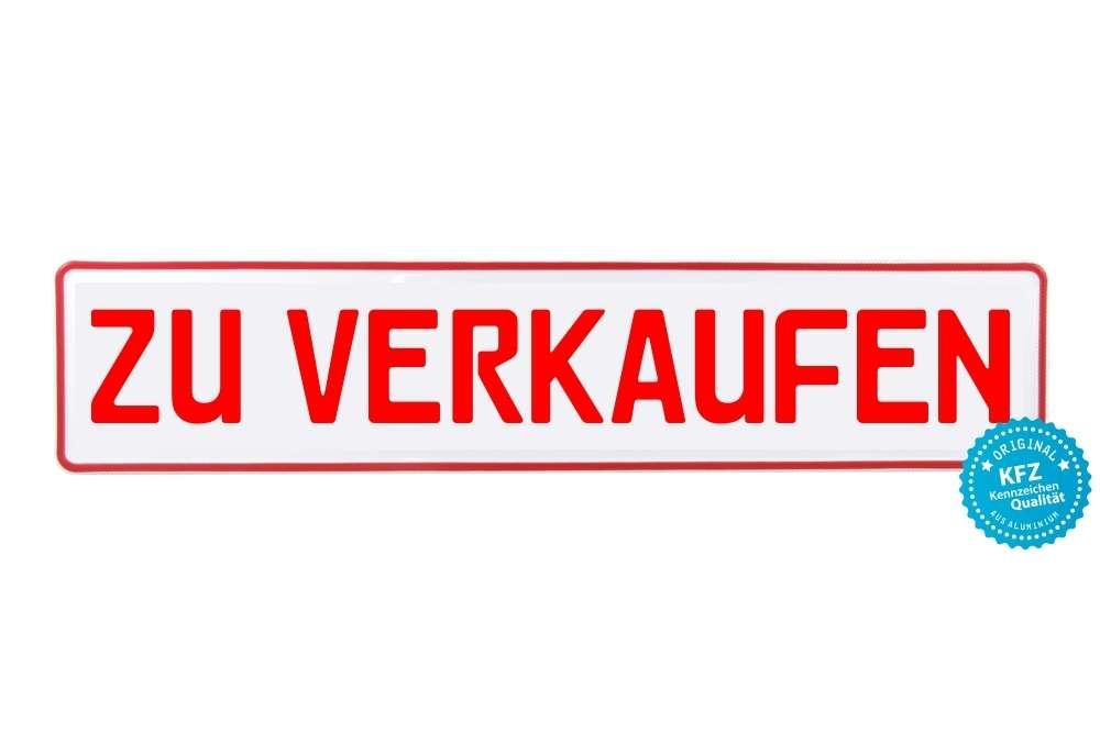 Miniletter Werbeschild, Kennzeicheneinleger, zu Verkaufen, rot