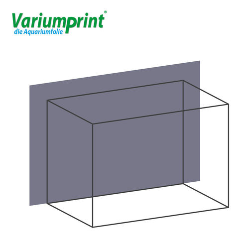 Variumprint® selbstklebende Aquarium-Rückwandfolie EO-Normal Grey